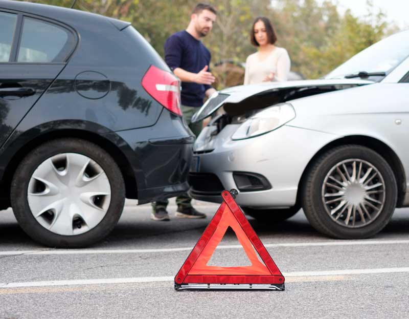 Step 2: exchange information after a car accident