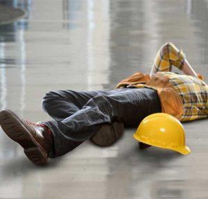 person feel on floor